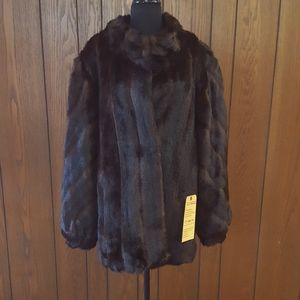 Fabulous Furs Faux Fur Coat and Matching Muff